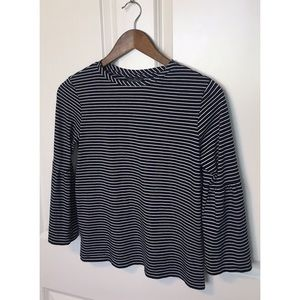 Topshop Tall navy & white striped top